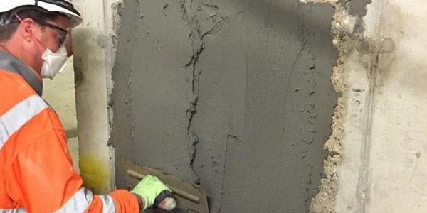 دیوار بتنی آسیب دیده